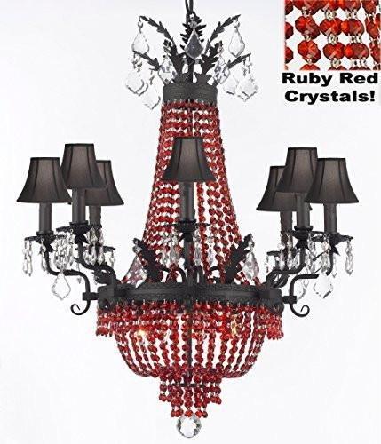 Amazon.com: Imperio Francés arañas de vidrio de estilo ...