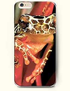 iPhone 6 Plus Case 5.5 Inches Frog Looks Sleepy - Hard Back Plastic Case OOFIT Authentic