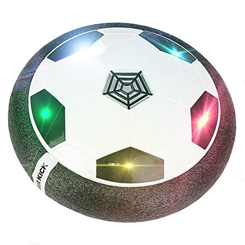 Hover Ball, TLOVII Air Power Soccer Ball Kids Toys Boys Girls Sport Training Football, Indoor or Outdoor Disk with Foam Bumpers and Colorful LED lights 51VtQddly9L