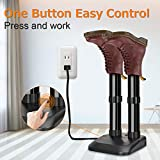 Boot Dryer - Electric Shoe Dryer, Easy Assembly and Control, Overheat Protection, Fast Heating and Drying, Constant Temperature, Super Quiet, Heat Blower, Dryer for Shoes, Boots, Gloves, Socks, Black