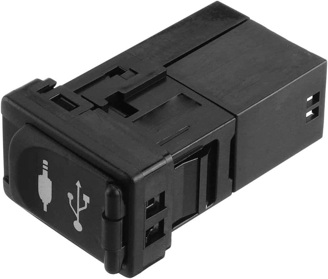 RETYLY daptador de Puerto USB U para utom/óVil Jack uto para Rav4 Camry para Yaris para Corolla valon 86190-0R010 Pl/áStico Negro