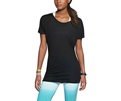 e07eb358 NIKE Women's Dri-FIT Touch Club Boyfriend Training T-Shirt, Black (Small