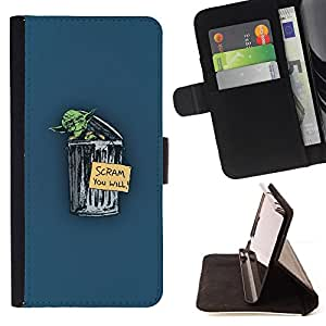 KingStore / Leather Etui en cuir / Apple Iphone 6 / Yoda Scram