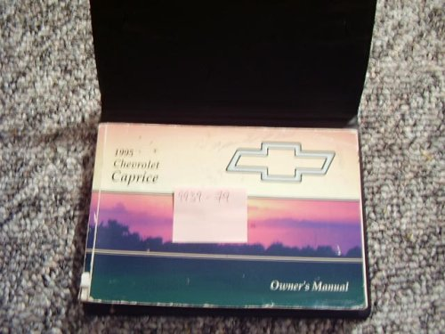 1995 Chevy Chevrolet Caprice Owners Manual