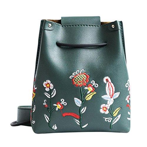 niñas floral de Morwind por bolso retro bolsa Verde hombro las crossbody bolso Simple UwxnTqARpq