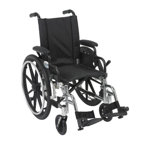 Viper Wheelchair with Flip Back Removable Arms, Desk Arms, Swing Away Footrests, 14