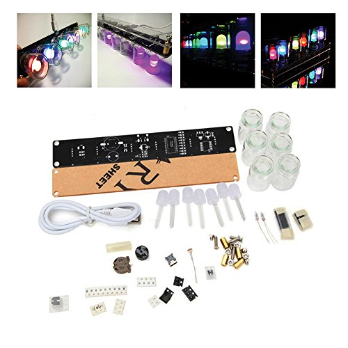 6-LEDs-Novelty-Signal-Light-Clock-DIY-Kit-IQ-EQ-Development-Education-Learning-Kit-Engineer-Starter-toy-Hobby-Electronic-Kit-WUSB-Cable-ERG-8