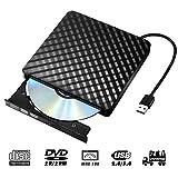 External DVD Drive, VikTck USB 3.0 CD/DVD-RW Drives, Slim High Speed DVD Player Burner for Macbook Air Pro /Air/ iMac and Laptop Desktops Support Windows/ Vista/7/8.1/10, Mac OSX