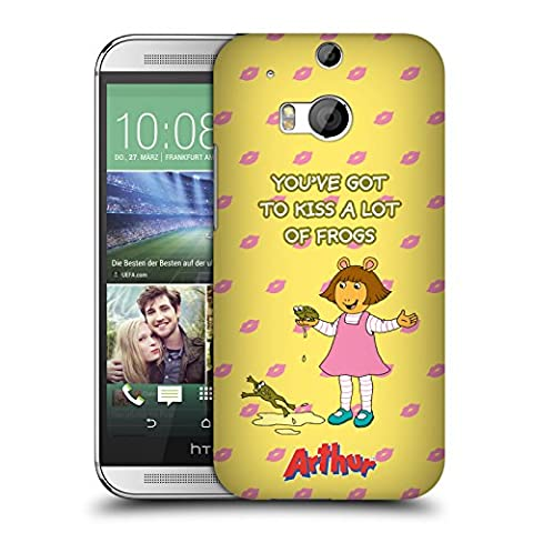 Official Arthur Kiss Frogs Characters Hard Back Case for HTC One M8 / M8 Dual Sim (Htc One M8 Case Frog)