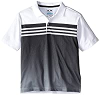 adidas Golf Boy's Climacool 3 Stripes Gradient Polo