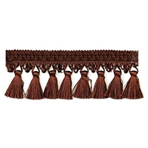 Colleen Tassel Fringe Trim Chocolate