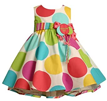 Bonnie Baby Large Dots Birthday Dress with Headband, 2T