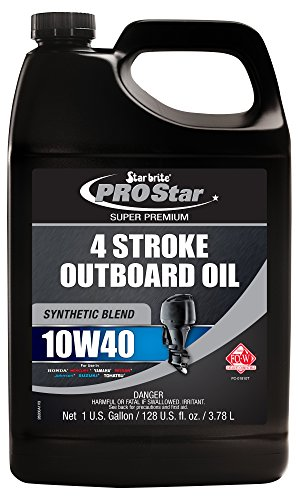 Star Brite 10W 40 Pro Super Premium Synthetic Blend 4 Stroke Outboard Oil (1-Gallon)