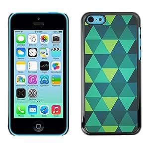 SKCASE Center / Funda Carcasa - Menta verde azul del trullo del patrón;;;;;;;; - iPhone 5C