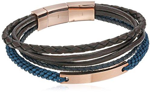 Fossil Vintage Casual Rose Gold-Tone Steel Multi-Strand Bracelet