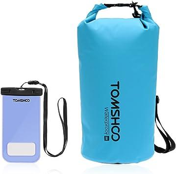 TOMSHOO Bolsas Estancas 10L/20L/40L (10L Azul + Caja de Teléfono): Amazon.es: Deportes y aire libre