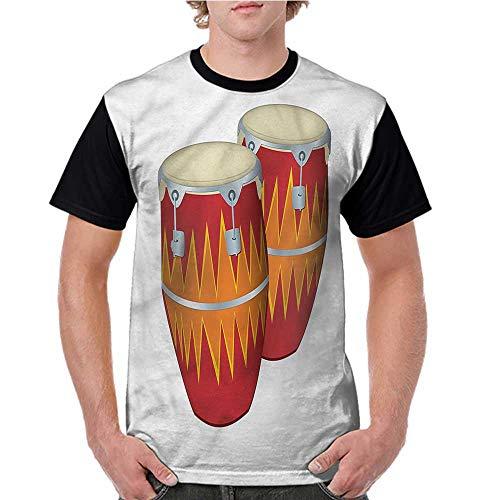 Lightly Women Summer Streetwear,Music,African Cuban Congas Funky S-XXL T Shirt Print Short Sleeve