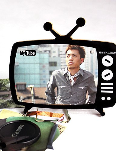 LBLI Nostalgic Black and White Television Shaped Magnetic Photo Frame JIAJU-YONGPING #2353
