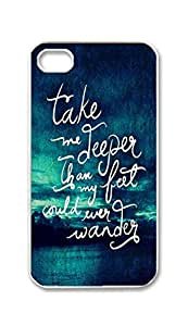 BlackKey Take me deeper than my feet could ever wander Snap-on Hard Back Case Cover Shell for iPhone 4 4G 4S -1771 by ruishername