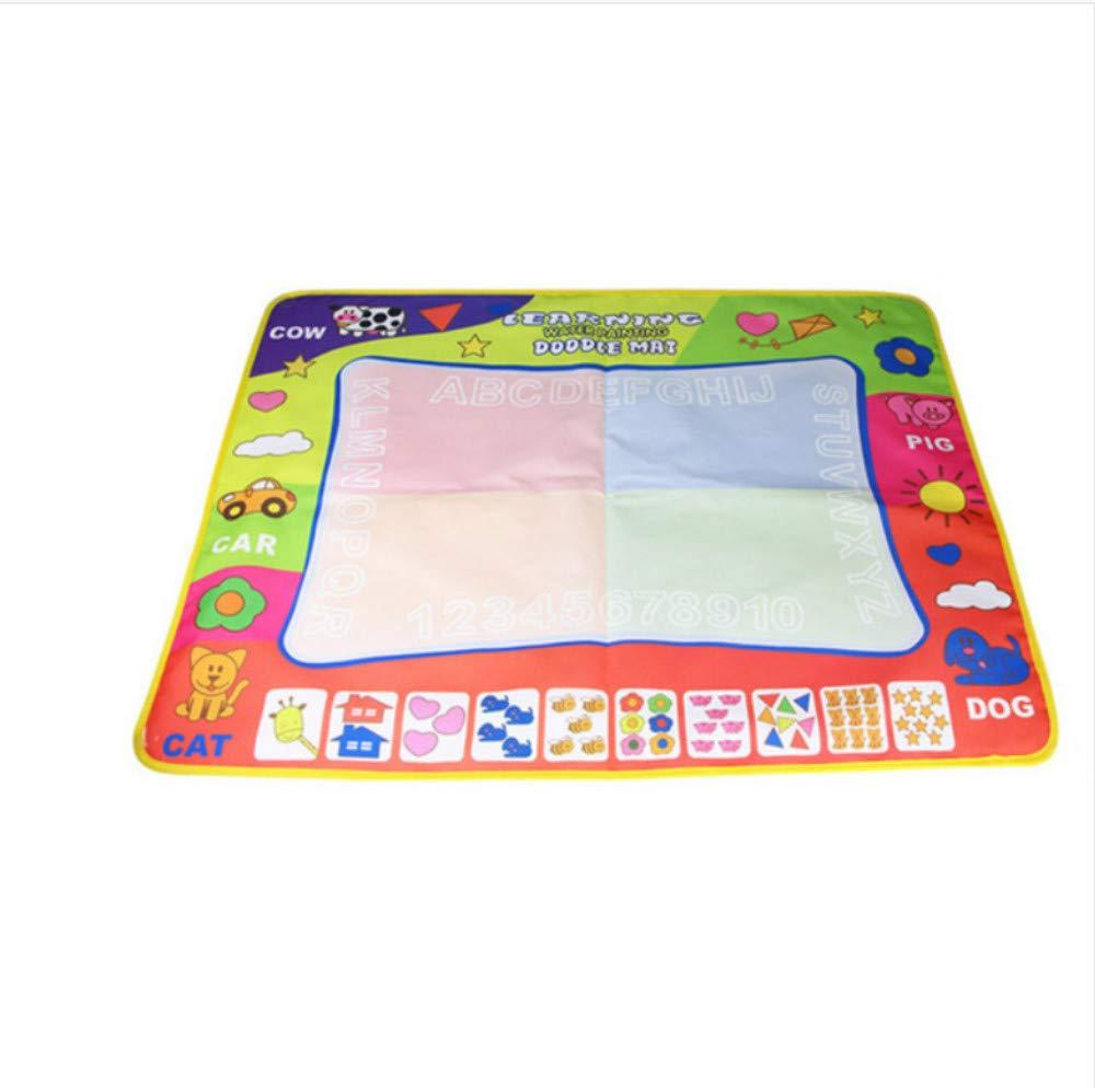 Scldream Pädagogische Kinder Magie Wasser Leinwand Decke Matte Schreiben Graffiti Stift Baby Spielzeug Kreative Wiederverwendung 150x90cm B07NZ4JHH3 Krabbelmatten Sehr gelobt und vom Publikum der Verbraucher geschätzt | Spielen Sie auf der ganzen Wel