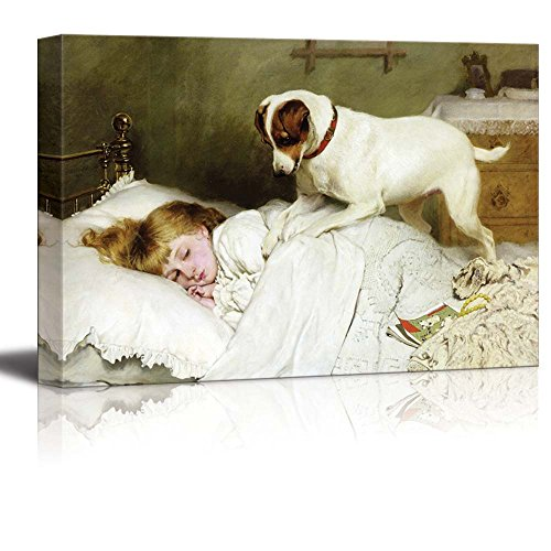 Time to Wake up by Charles Burton Barber Print Famous Painting Reproduction