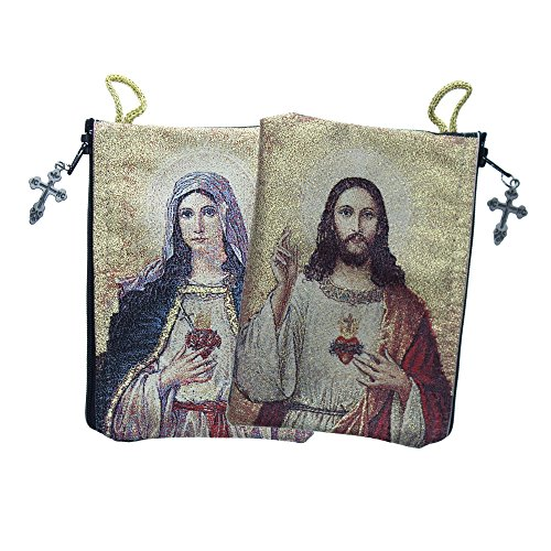Alexandra International Sacred Heart & Immaculate Heart Rosary Pouch by Alexandra International