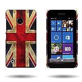 Nokia Lumia 530 Case with Unique Design (British UK Flag) CoverON® 1pc Slim Hard Shell Back Phone Cover for Nokia...