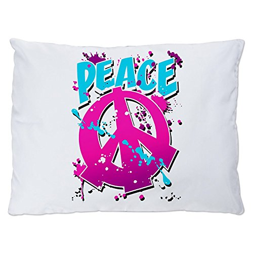 Indoor Luxury Plush Dog Bed Peace Symbol Sign Splatter Neon (Peace Splatter Sign)