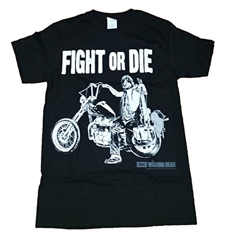 Walking Dead Daryl Dixon Fight or Die Licensed Graphic T-Shirt - Large