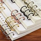Chris-Wang 10Pcs Metal 3-Ring Binding Spines Combs, Loose Leaf Binder DIY Photo Album Rings Book Calendar Round Circle, 0.75-Inch Spine Diameter, Black