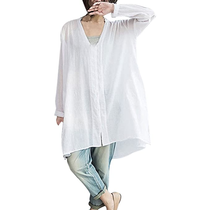 OrchidAmor Women Fashion V Neck Long Sleeve Casual Loose ...