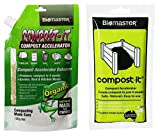 Compost-It Compost Starter/Accelerator Bundle - 2 Items, Spout Pack (100g) with Soluble Sachets Pack, Complete Composting Solution (100% Safe and Natural Concentrate)