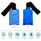 Pain Relief Ice Pack With Wrap - Hot & Cold Therapy - Flexible and reusable gel bead technology provides instant heat or ice pain relief, rehabilitation and therapy for sports injuries & aches