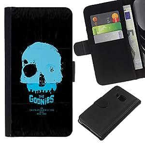 JackGot ( Los Goonies ) HTC One M9 la tarjeta de Crédito Slots PU Funda de cuero Monedero caso cubierta de piel