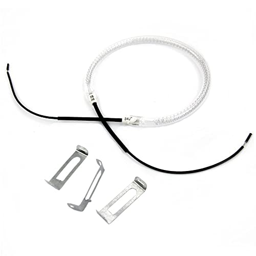 UNIVERSAL HALOGEN OVEN COOKER HEATING ELEMENT BULB with 3x Clips (1200/1400w) - --22CM LEADS-- S4U®