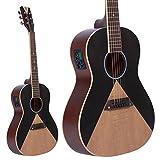 Lindo Aztec Parlour Traveller Electro-Acoustic Guitar Preamp/Tuner - Black/Natural