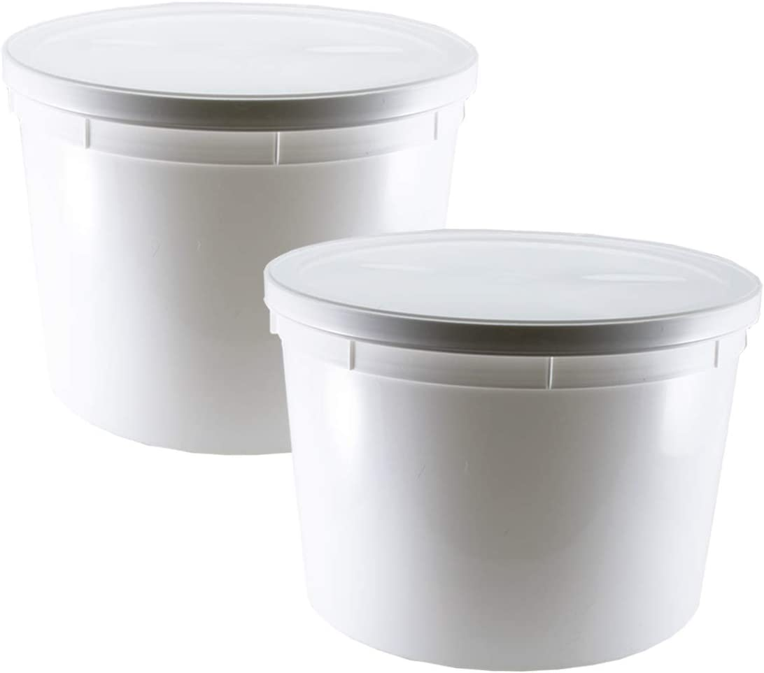 1.1-Gallon Dough Rising Bucket With Lid- Fits Instant Pot Model DU060-2 Pack