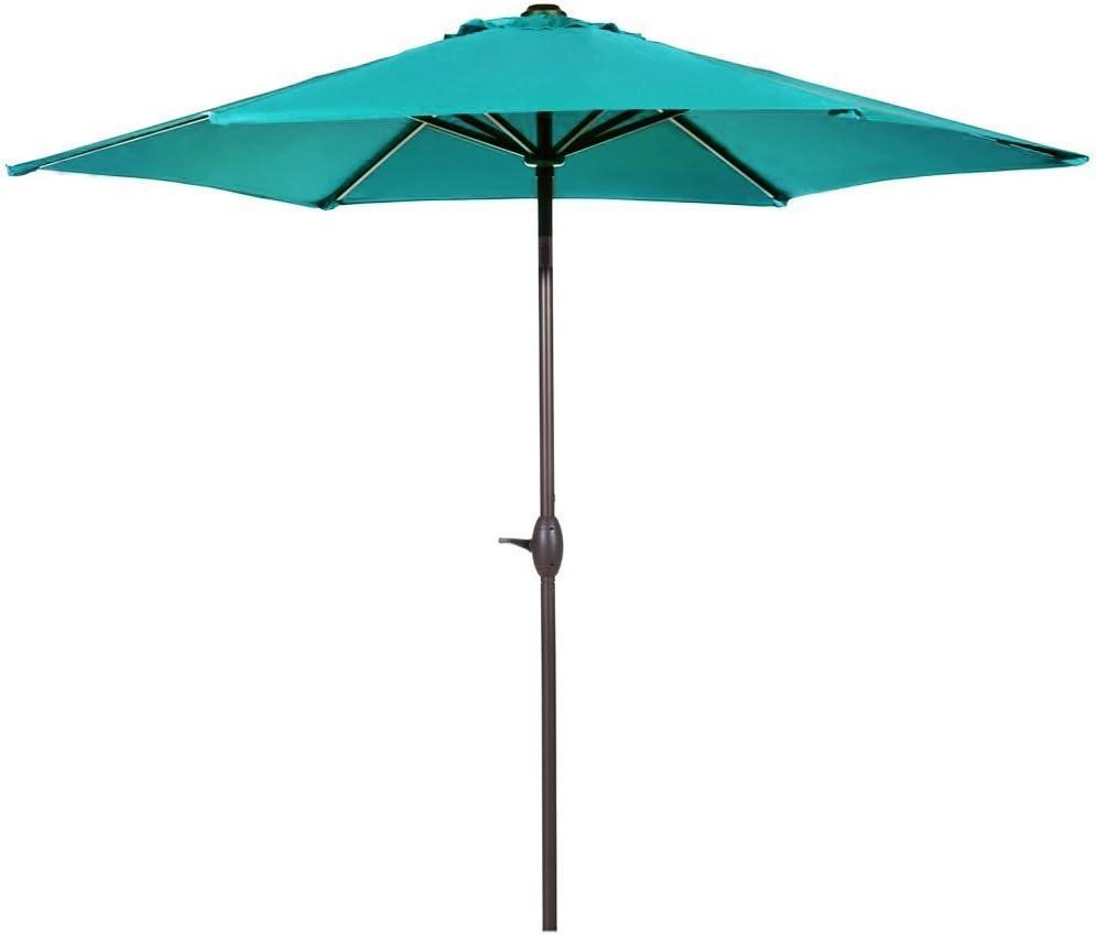 Abba Patio 9-Feet Patio Umbrella Outdoor Table Umbrella with Push Button Tilt and Crank, Turquoise