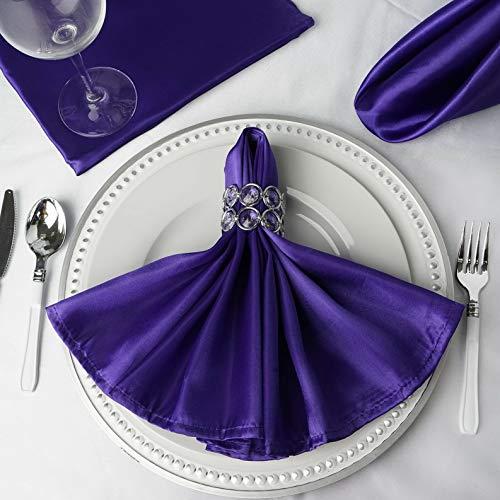 - Mikash 20 Satin Napkins Wedding Party Shower Table Supply Decorations Wholesale   Model WDDNGDCRTN - 4457   300 pcs