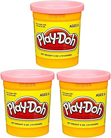 (3 Pack) PEACH (23861) Hasbro Play-Doh 5 oz. (15 oz. total) by Play-Doh (Playdoh People)
