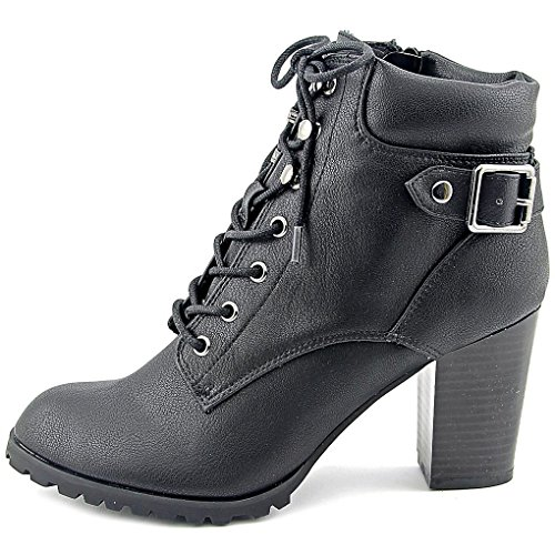 - Style & Co. Womens Caitlin Leather Closed Toe Ankle Combat Boots Black 10 M US