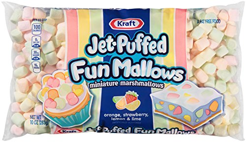 Kraft Jet-Puffed FunMallows Miniature Marshmallows Orange, Strawberry, Lemon & Lime