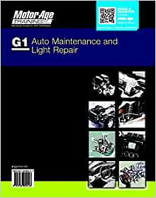 By Motor Age Staff Ase G1 Study Guide Auto Maintenance