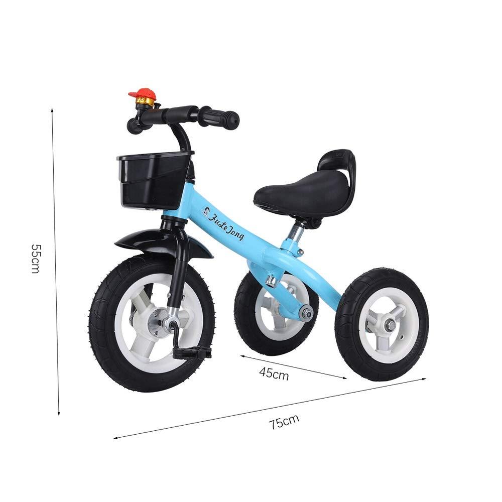 bleu Ordinary wheel MEILA Nouveaux Enfants Tricycle vélo 1-3-2-6 Ans bébé vélo Jeune Enfant vélo Poussette équitation en Alliage d'aluminium Trike Clip Facile et portable