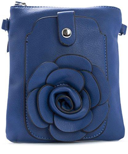 Big Handbag Shop - Bolso cruzados de sintético para mujer One Azul Real