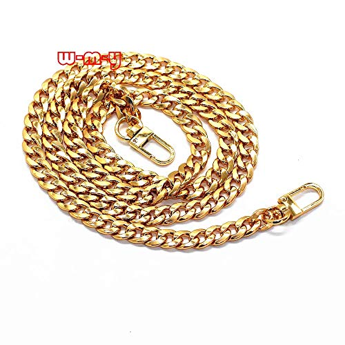 lat Chain Strap Handbag Chains Accessories Purse Straps Shoulder Cross Body Replacement Straps, with 2pcs Metal Buckles Style1 (Gold) ()
