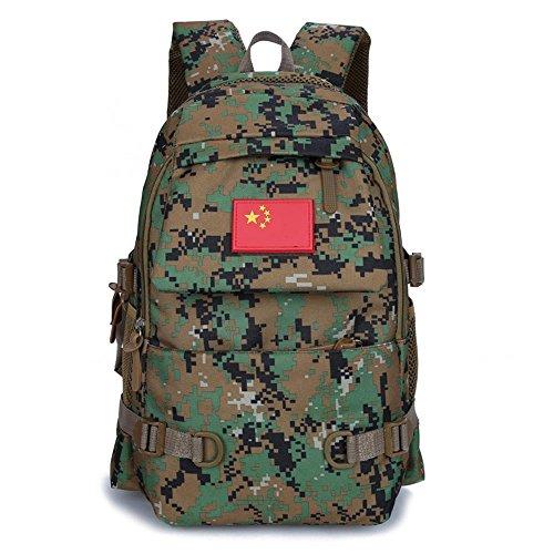 Aoligei Camouflage épaules sac hommes / femmes mode sac à dos voyage plein air loisirs sac étudiant sac de sport C