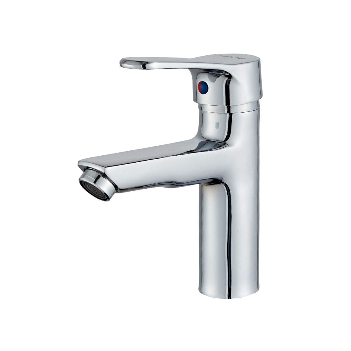 QIANZICAIDIANJIA Faucet, Bathroom Single Hole Basin Faucet, Hot And Cold Copper Wash Basin Bathroom Bathroom Home Bathroom Cabinet Faucet stainless steel faucet (Color : Silver, Size : A) by QIANZICAIDIANJIA