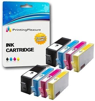Printing Pleasure 8 Cartuchos de Tinta compatibles para HP Deskjet ...