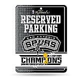 2014 San Antonio Spurs NBA Champions High-Res Metal Parking Sign